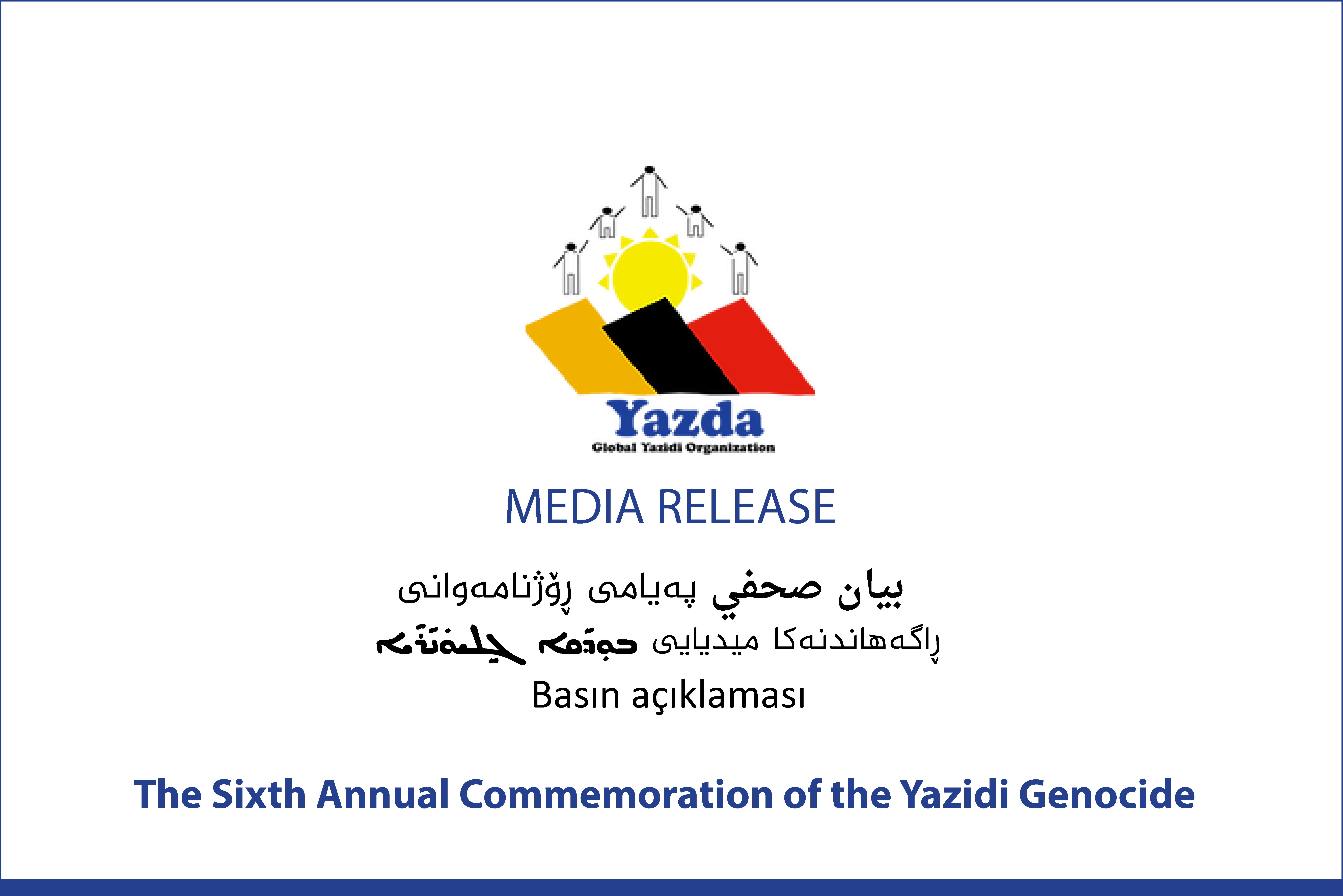 The Sixth Annual Commemoration of the Yazidi Genocide